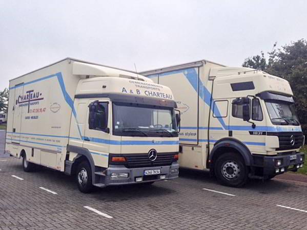 AB Charteau des vehicules lourds pour les grands demenagements