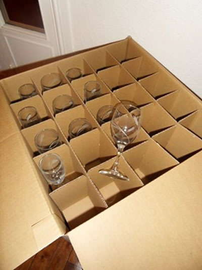 Carton d'emballage pour verres